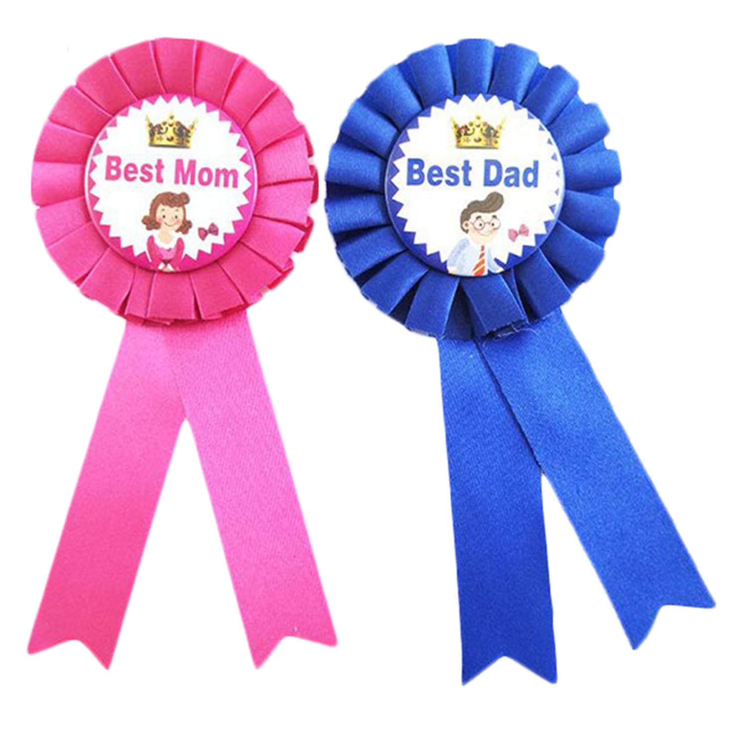 Happy fathers day rosette gold centre dad