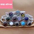 PJR063 FreeShipping anillo de plata 925. anillo con colorido cystal joyería de lujo. anillos para mujer charmming regalo de cumpleaños