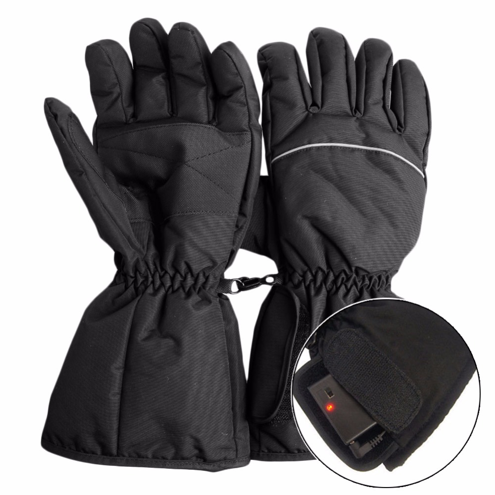 Waterproof Heated Gloves Battery Powered For Motorcycle Hunting Winter Warmer image