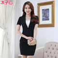 New spring and summer women's short-sleeved career suits Slim was thin suit suit overalls interview