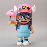 Free Shipping Anime Cartoon Dr Slump Arale With Faeces PVC Action Figure Toy Doll 8 20CM