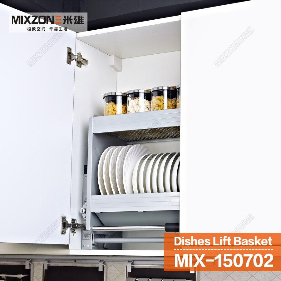 Kitchen Cabinet Wall Mount Pull Down Stainless Steel Elevator Storage  Organizer 150702 900 In Storage Baskets From Home U0026 Garden On  Aliexpress.com | Alibaba ...