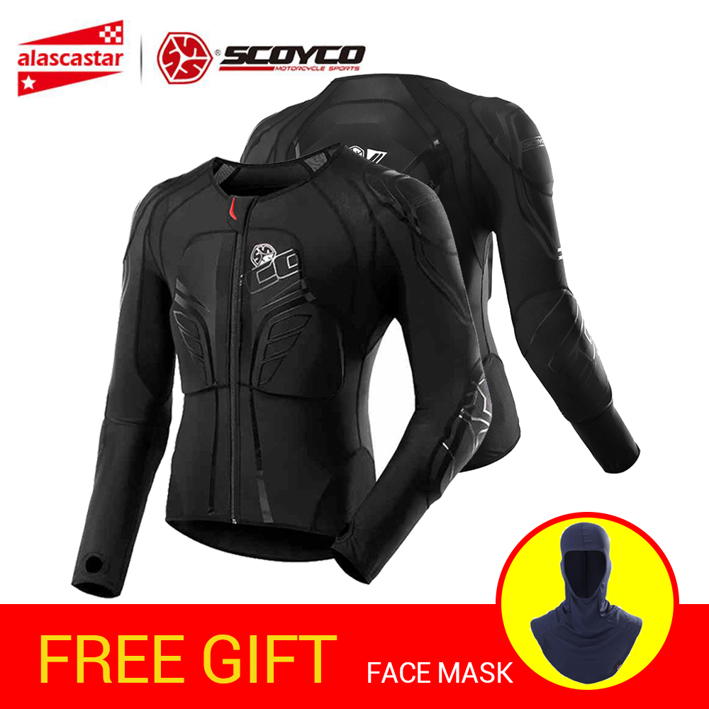 SCOYCO veste de Moto Protection Motocross équipement de Protection veste de Moto armure de Moto armure de course armure de Moto noire