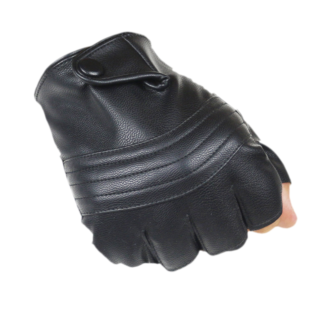 New Style Mens Leather Driving Gloves Fitness Gloves Half Finger Tactical Gloves Black Guantes Luva leather fitness gloves in Men 39 s Gloves from Apparel Accessories