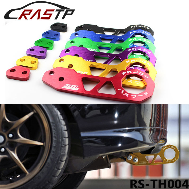 New Racing Rear Tow Hook FIT FOR HONDA CIVIC Integra RSX with logo RS-TH004
