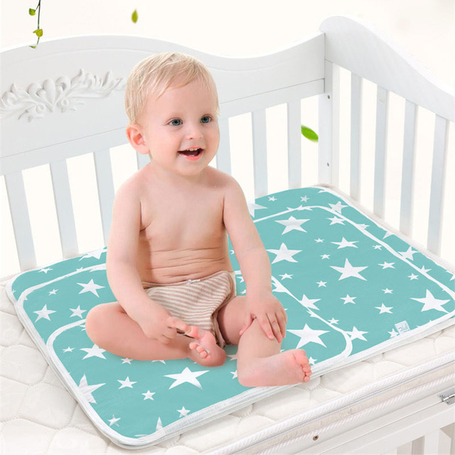 """גודל 60X75 ס""""מ 50X70 ס""""מ תינוק שינוי מחצלת נייד מתקפל רחיץ עמיד למים מזרן ילדי משחק רצפה מחצלות לשימוש חוזר חיתול"""