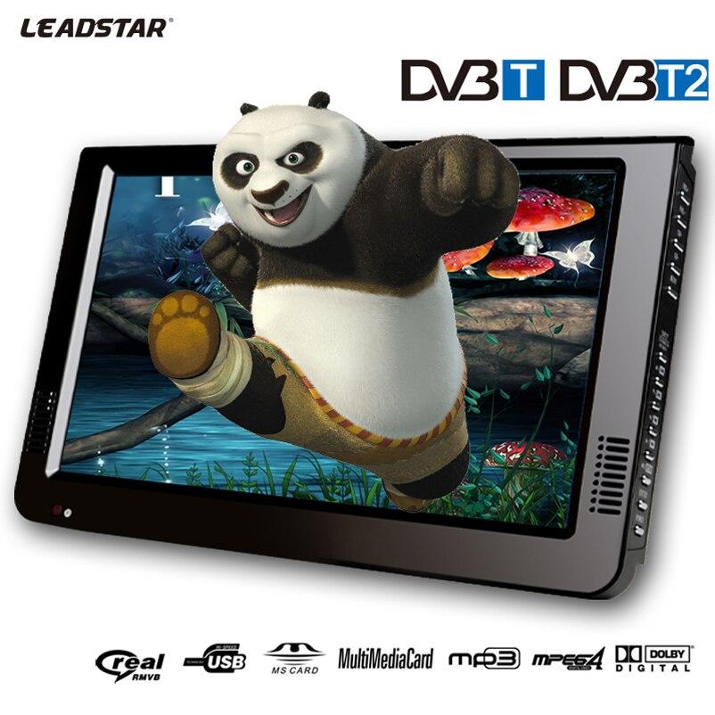 """LEADSTAR 10.2 """"LCD DVB-T/T2 numérique/analogique Portable AC3 TV MP3 MP4 lecteur Support TF/USB/AV Port peut être comme voiture télévision numérique"""