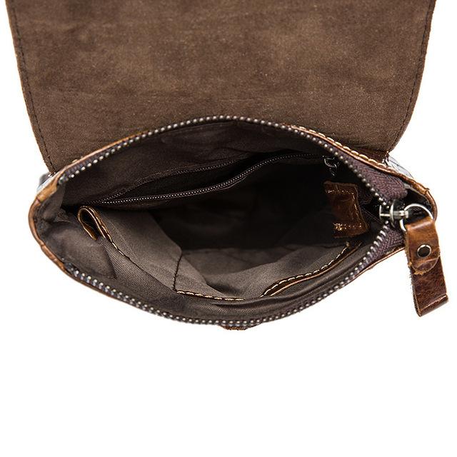 vintage Crocodile briefcase Genuine alligator crazy cowhide Leather male Messenger Business Shoulder crossbody bag flap pocket