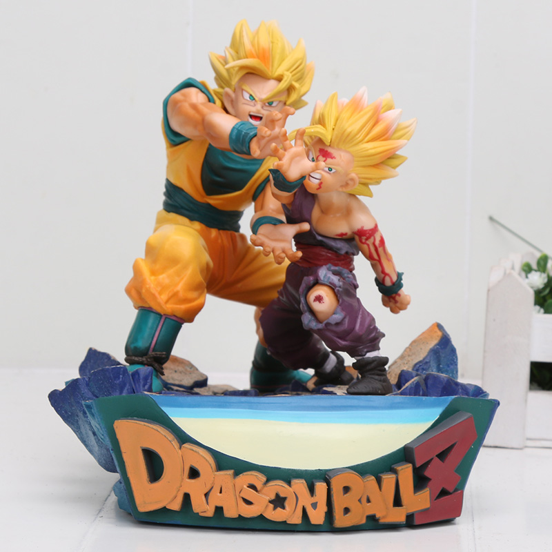 15cm Anime Dragon Ball Z goku and gohan father son PVC Action Figure Toys Model Dolls Dragon Ball Action Figure 18cm dragon ball z action figure goku and gohan deification rama ver dragonball pvc toys 18cm free shipping