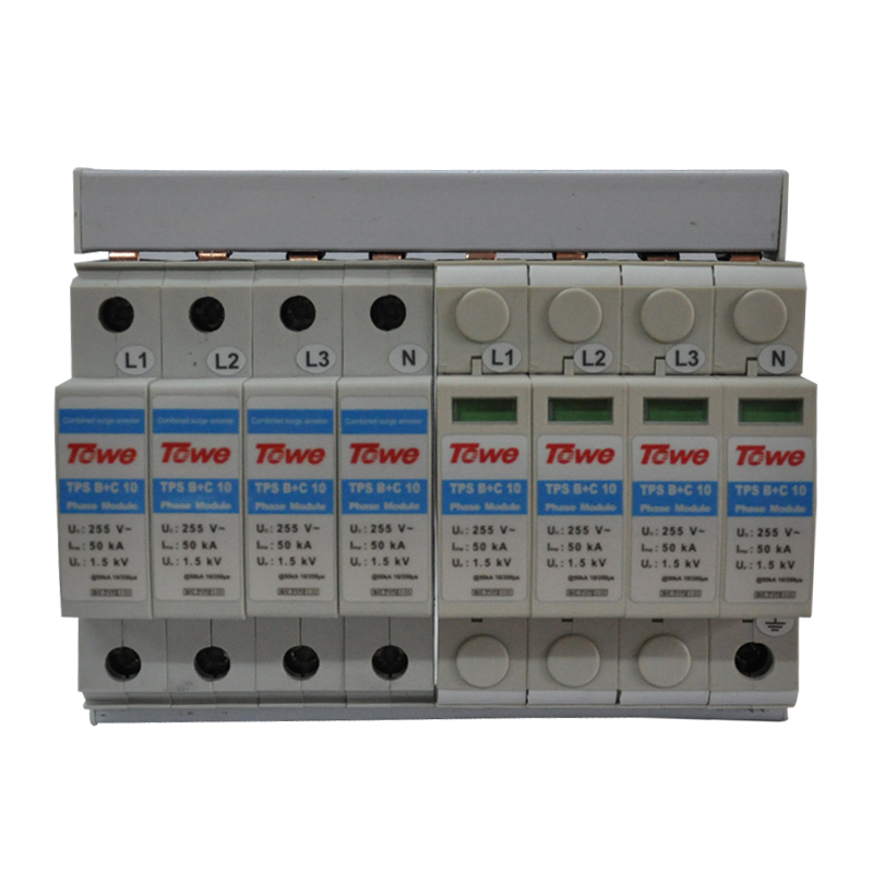 TOWE AP B C 10 4P Three phase five wireB C protect 8 modulars Iimp 50KA