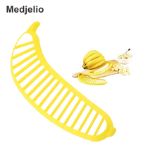 Banana Slicer Chopper Cutter Plastic Banana Segmentation Knife Salad Make Tool Fruit Sausage Cereal Shredders Peelers