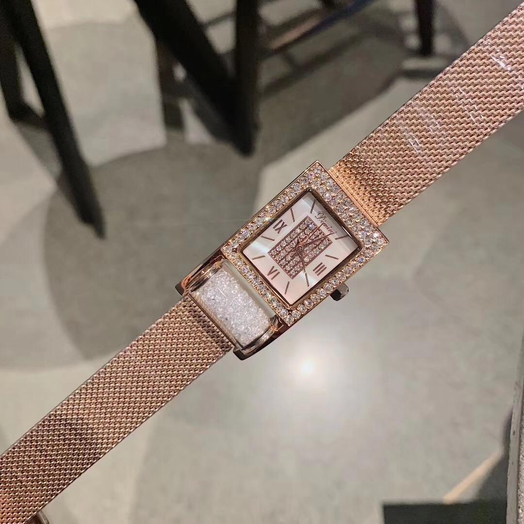 Nobre Roxo Cristais Milanese Pulseira Relógios para