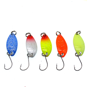 Image 2 - Fishing Spoons Trout Lures 5Pcs/lot 2.5g Metal Casting Jig Lures with Single Hook Fishing Lures