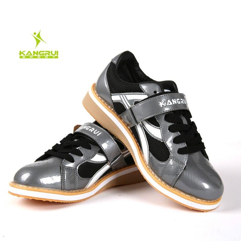 Chaussures d'haltérophilie professionnelles Squat formation en cuir chaussures de levage de poids antidérapantes - 2