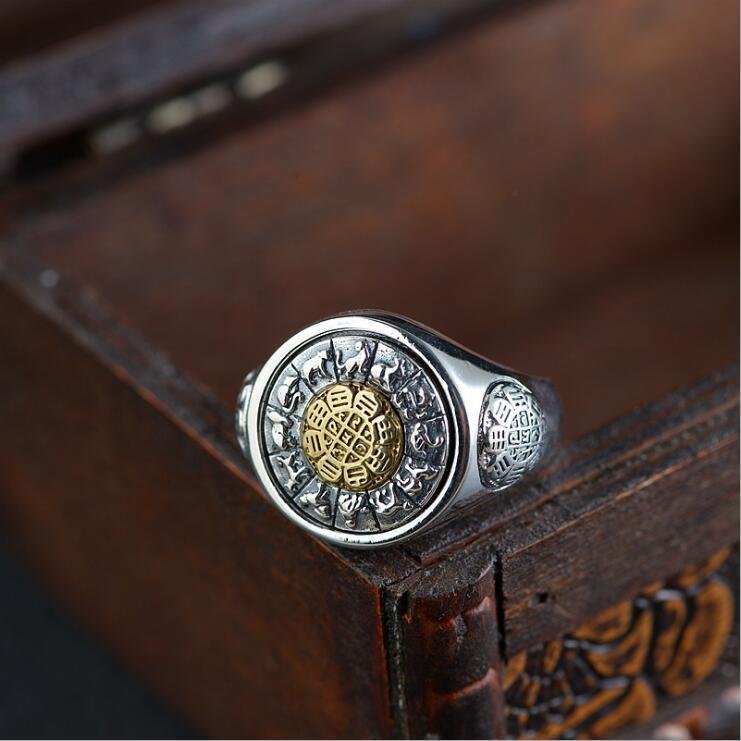 Lengkea bijoux hommes anneaux Vintage 925 bague en argent Sterling anneau d'ouverture rotatif femmes anneau bijoux hommes accessoires amoureux cadeaux - 3
