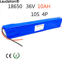 36V 10ah Electric battery for bicycle 18650 lithium ion battery 10S4P 500W High power and capacity 42 per motorcycle Scooter wit