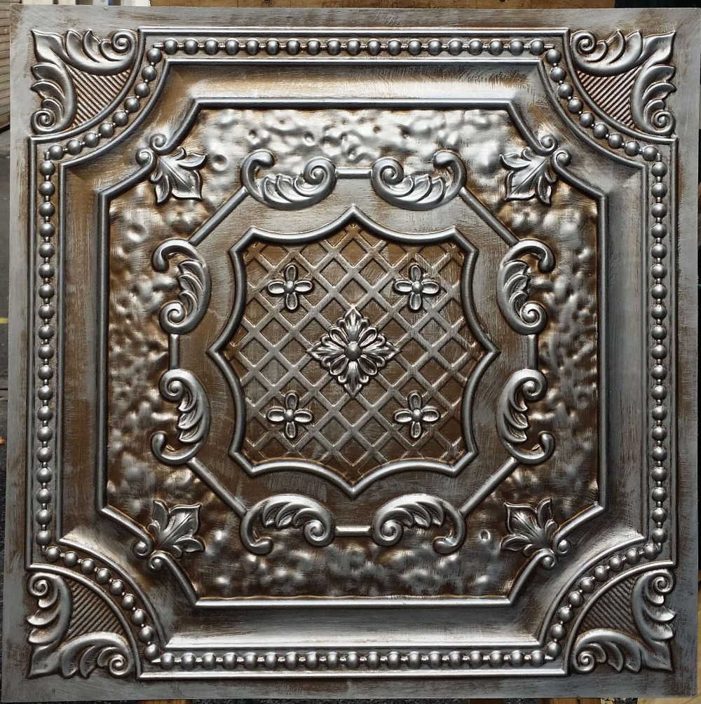 Pl04 Faux Antique Tin Copper Metallic Ceiling Tiles