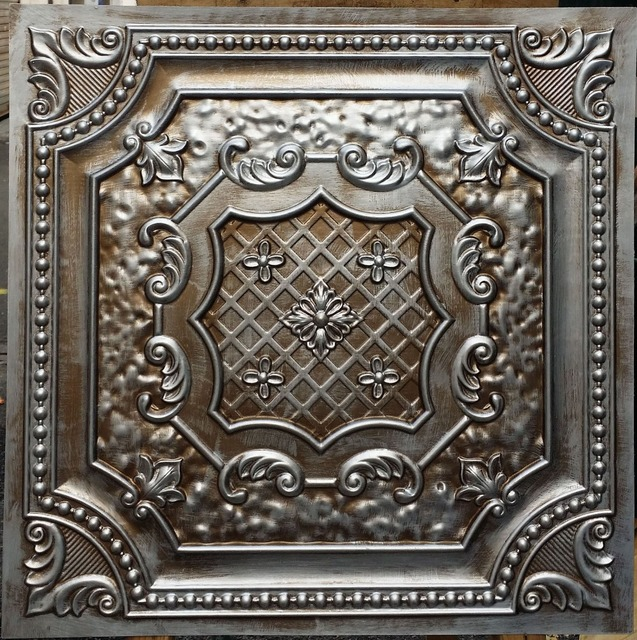 PL04 Faux antique tin copper metallic ceiling tiles Interior wall ...