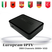 MAG250+1 Year SuperIPTV 3500 Italy IPTV HotClub Italian Portugal German Holland Europe IPTV Channel Linux OS STi7105 Set Top Box(China)