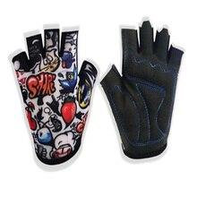 Summer Anti-slip children bicycle gloves in half finger