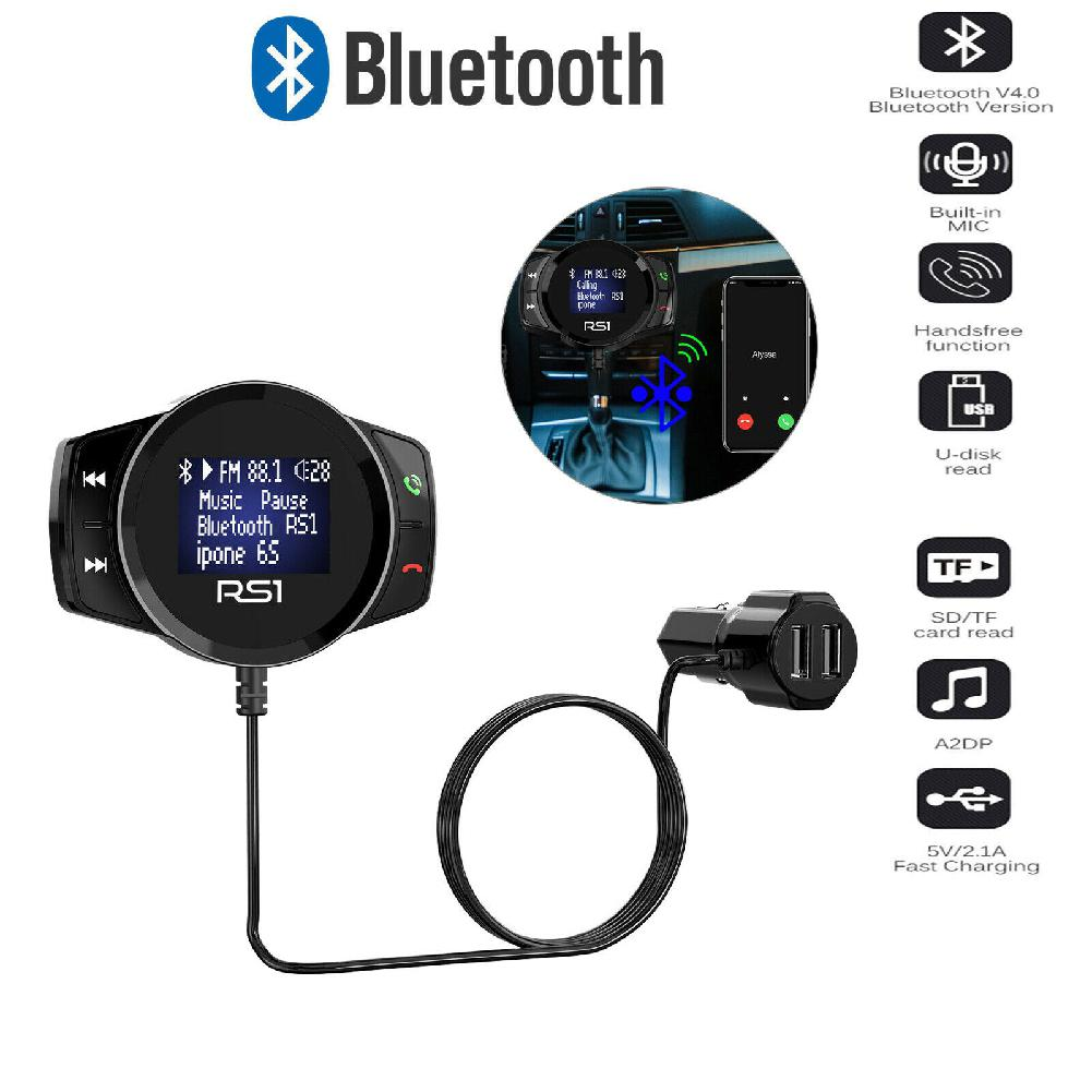 RS1 Wireless Bluetooth USB Car Kit LCD SD FM Transmitter MP3 Player Magnet Handsfree