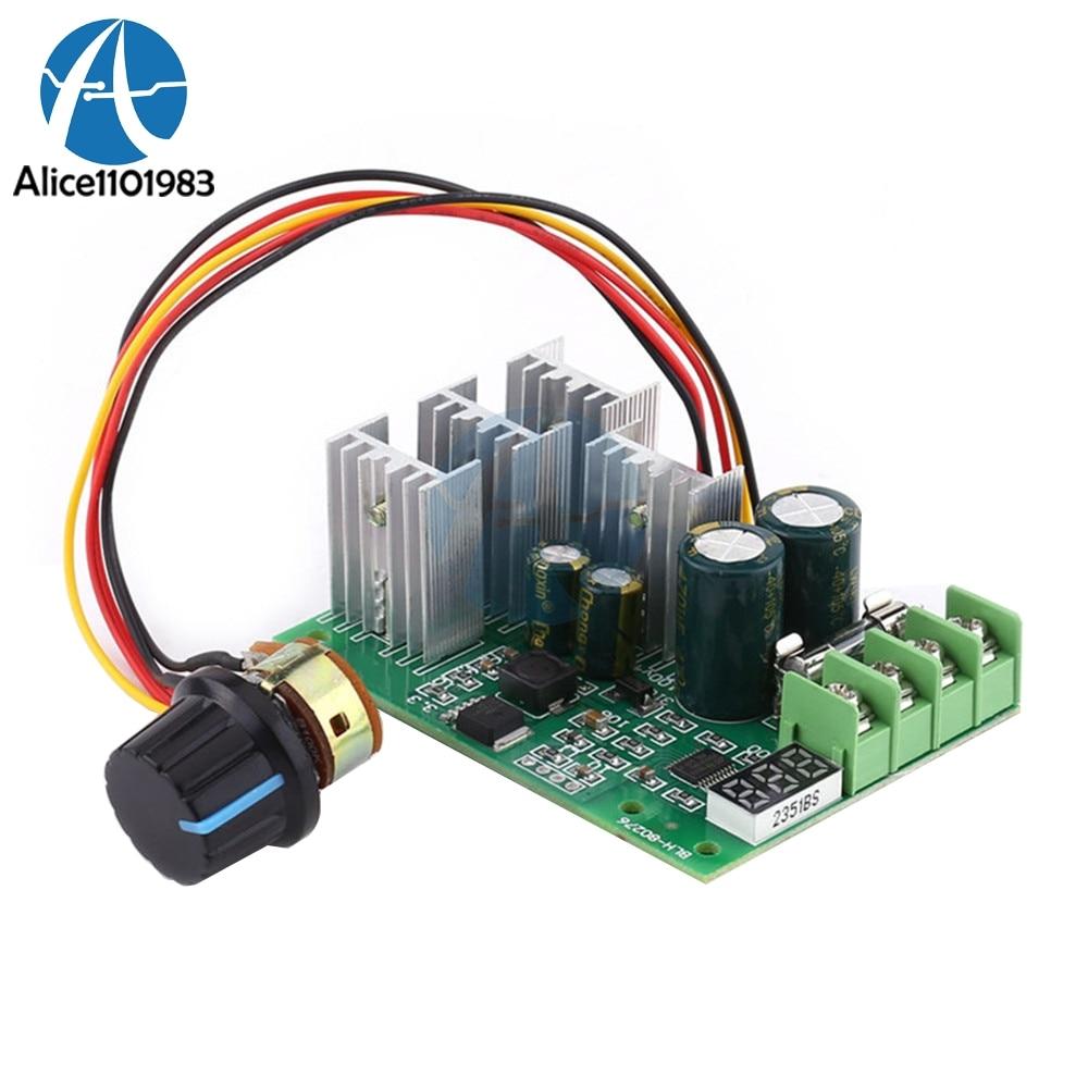 Dc6-60v 30a Digital Led Display 0~100% Adjustable Drive Module Pwm Dc Motor Speed Controller Regulator Dimmer Current Control Active Components