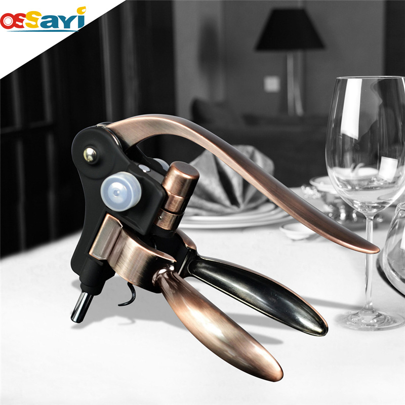 High Quality Wine Bottle Opener Corkscrew Copper Color Rabbit Corkscrew Wine Opener Wedding Favors Gift Bottle