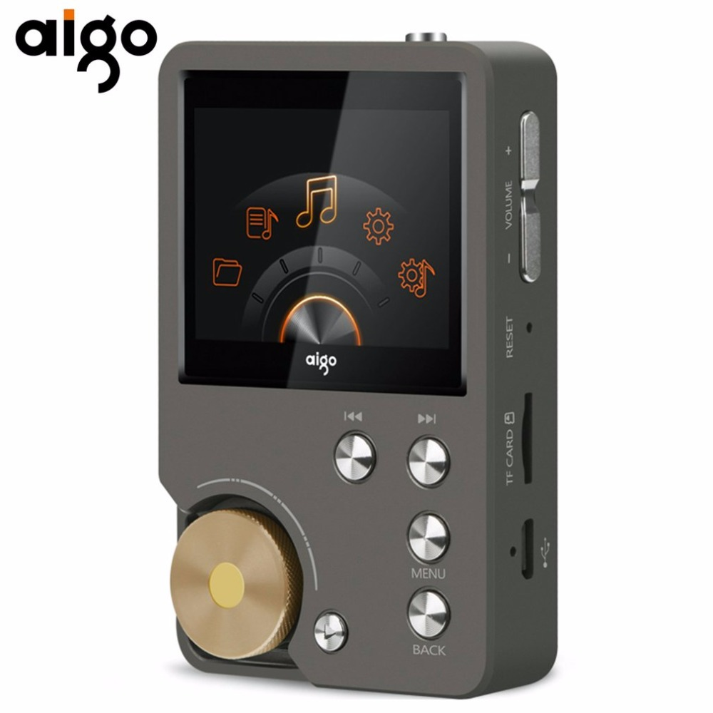 Aigo New Original MP3 Player Portable Lossless Hifi Music Player 8G With TFT Screen 24bit/192K EQ Adjustable Audio MP3 Player 2016 brand new aigo eros q high quality dsd64 bluetooth 4 0 portable audio lossless hifi music player usb dac support otg