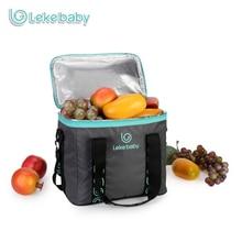 Lekebaby Breast Milk Storage for Baby Care Multifunction Insulated Cooler Bag Fresh-keeping Waterproof Lunch Picnic Bag