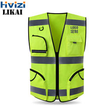 Brand Vest Workwear Safety Gilet Reflective Securite Safety Vest Reflector Sleeveless Jacket Free Shipping LOGO PRINT(China)