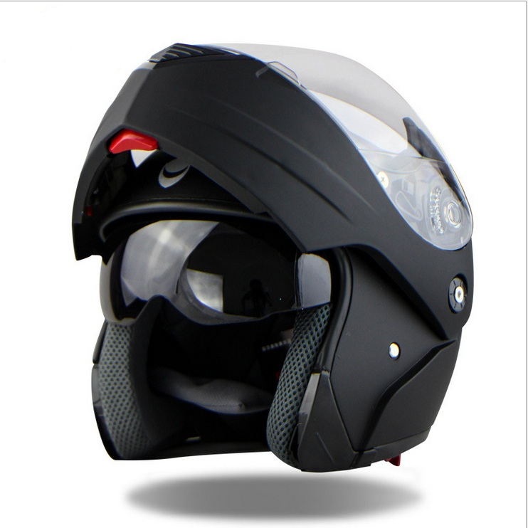 ФОТО New Arrivals Best Sales Safe Flip Up Motorcycle Helmet With Inner Sun Visor Everybody Affordable Double Lens Motorbike Helmet