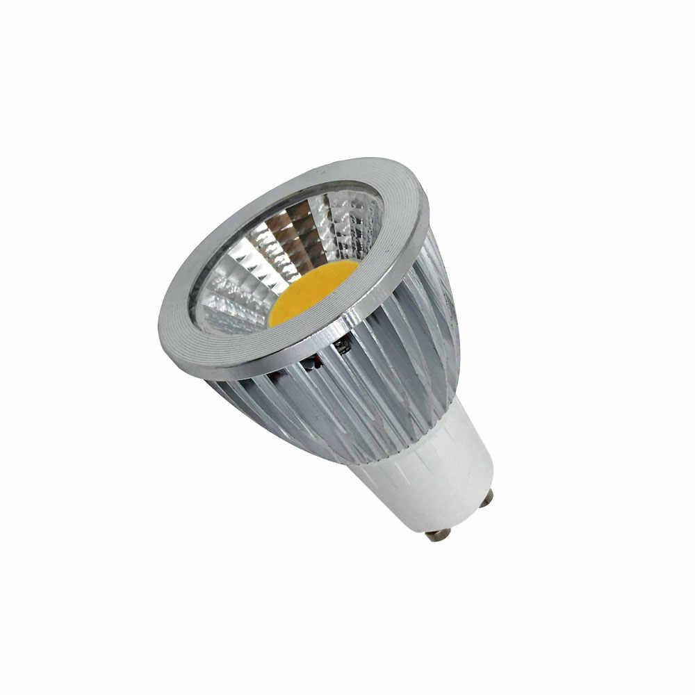10Pcs/Lot Free shipping COB GU10 LED 3W 5W 7W GU10 led spotlight dimmable GU10 COB spotlight for home lighting