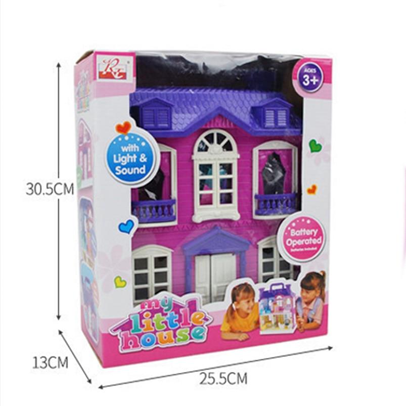 Doll House Tilbehør Møbler Diy Kit 3D Miniatyr Plastic Model Toy - Dukker og tilbehør - Bilde 5