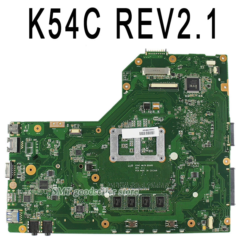 K54C A54C X54C motherboard For Asus REV2.1 Mainboard 2G Memory on boacrd DDR3 PGA989 100% tested  original notebook motherboard x54c k54c for asus rev 2 1 system pc mainboard with ram on board