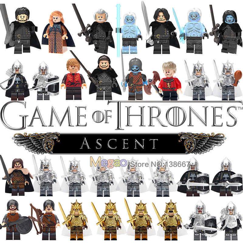 Único KT1029 Medieval Cavaleiro Blocos John Snow Tyrion Lannister Game of Thrones Khal Drogo Ação Tijolos Brinquedos Para Crianças