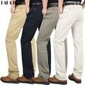 Primavera de Algodón Delgado Para Hombre Pantalones Casuales Pantalones de Traje Masculinos Sólidos Pantalones de Hombre de Marca Pantalones de Vestir Formales KMA0109-5