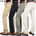 Spring Cotton Thin Mens Pants Casual Suit Trousers Solid Male Pants Man Brand Dress Pants Formal KMA0109-5