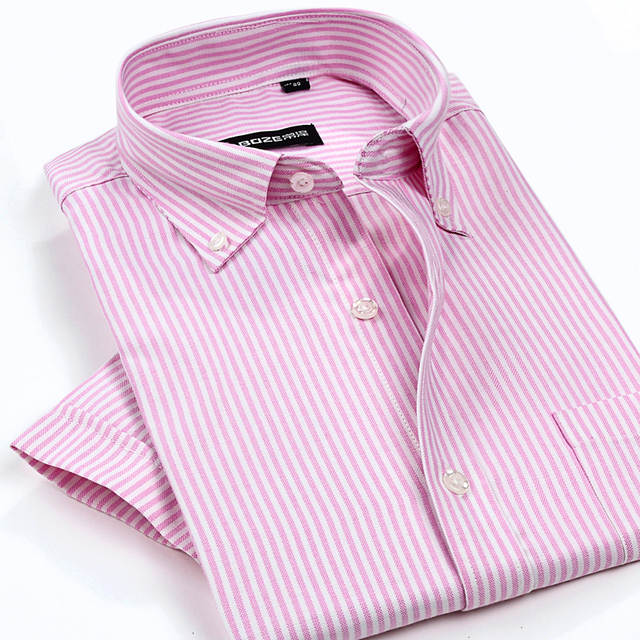 a0d08963bdfe New Arrival Men's Classic Style Non Iron Oxford Shirts Plaid/Striped Short  Sleeve Casual Shirt High Quality Brand Clothing-in Casual Shirts from Men's  ...