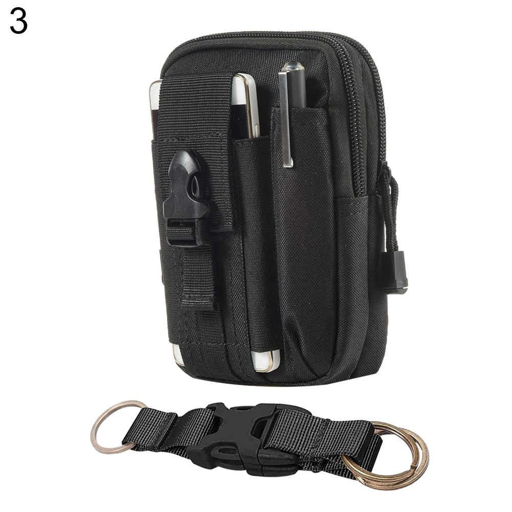 Ordu Oxford kumaş erkek Mini kanca bel çanta kemeri açık fermuar fanny paketi bel çantası mariconera hombre сумка на пояс мужская
