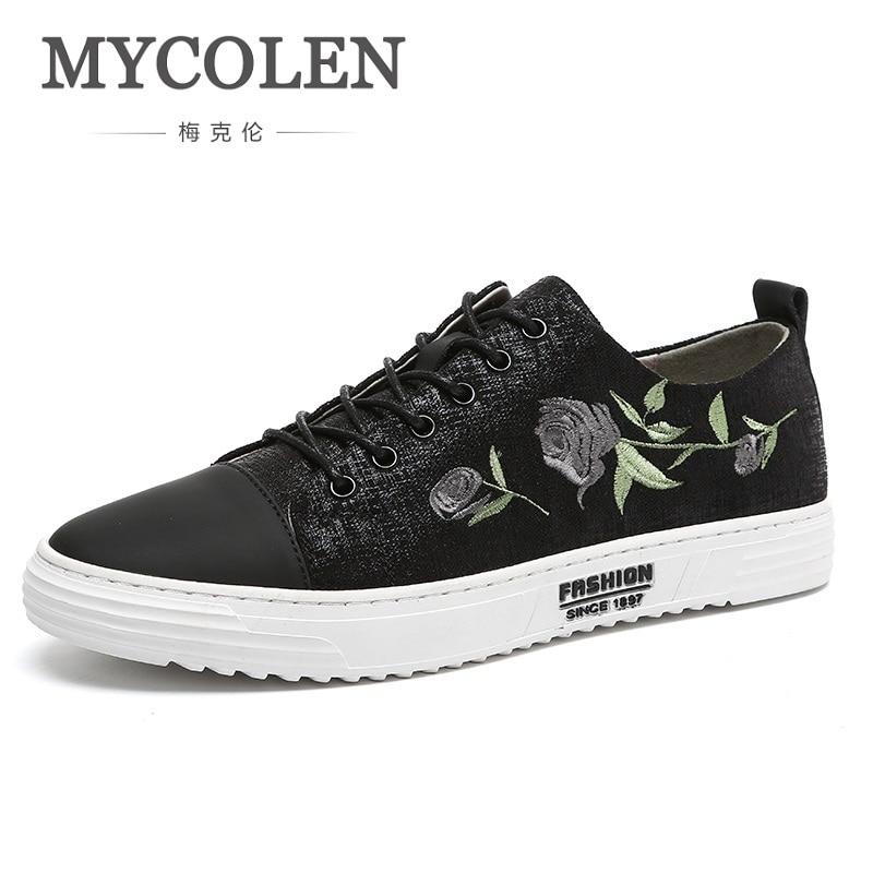 MYCOLEN décontracté hommes baskets 2018 haute qualité nouveau à lacets toile hommes chaussures printemps été respirant hommes chaussures décontractées Sapatos