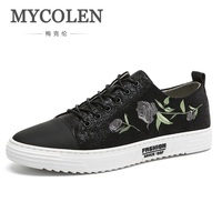 MYCOLEN Casual Men Sneakers 2018 High Quality New Lace Up Canvas Men Shoes Spring Summer Breathable Men's Casual Shoes Sapatos