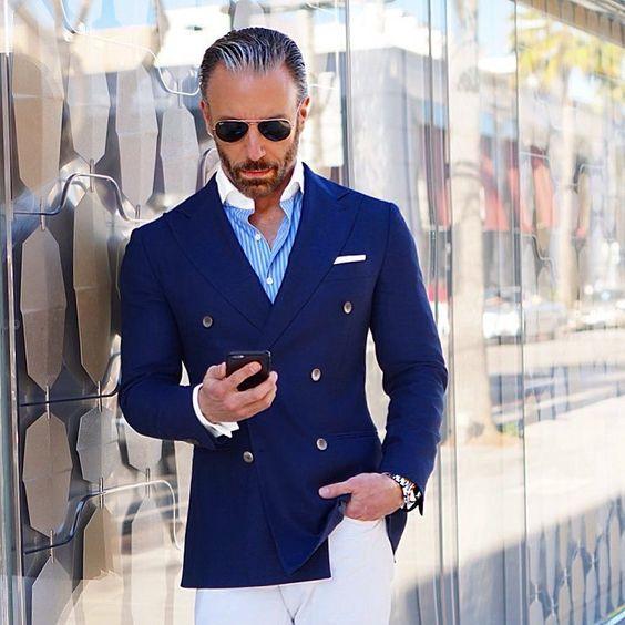 2017 Latest Coat Pant Designs Navy Blue Double Breasted Men Suit Slim Fit 2 Piece Casual Tuxedo Custom Groom Prom Blazer Ternos
