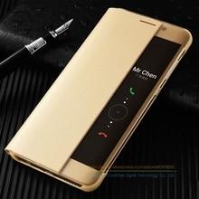Высокое качество роскошные Smart View Окно Флип кожаный чехол для Huawei Mate 9 Mate9 Pro 5.5 «Роскошный мобильный телефон Крышка