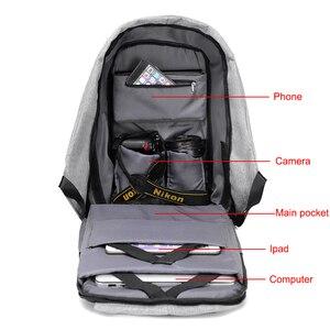 Image 4 - Anti theft Backpack Bag 15.6 Inch Laptop Men Mochila Male Waterproof Back Pack Backbag Large Capacity School Backpack