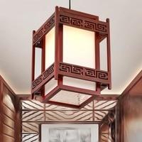 Китайские подвесные светильники антикварная деревянная овчина лампа Классическая терраса столовая лампа коридор лампа LU812255