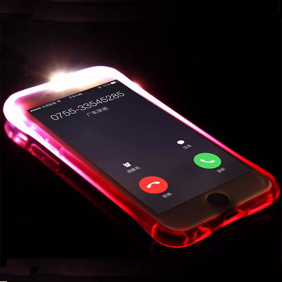 new product 9aa40 7856b Apple IPhone X LED Light Phone Case Anti Drop Protect Bumper Case