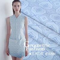 High grade dyed fashion jacquard tapestry fabric New grey blue jacquard fabric dress short skirts suit jacket Silk fabric