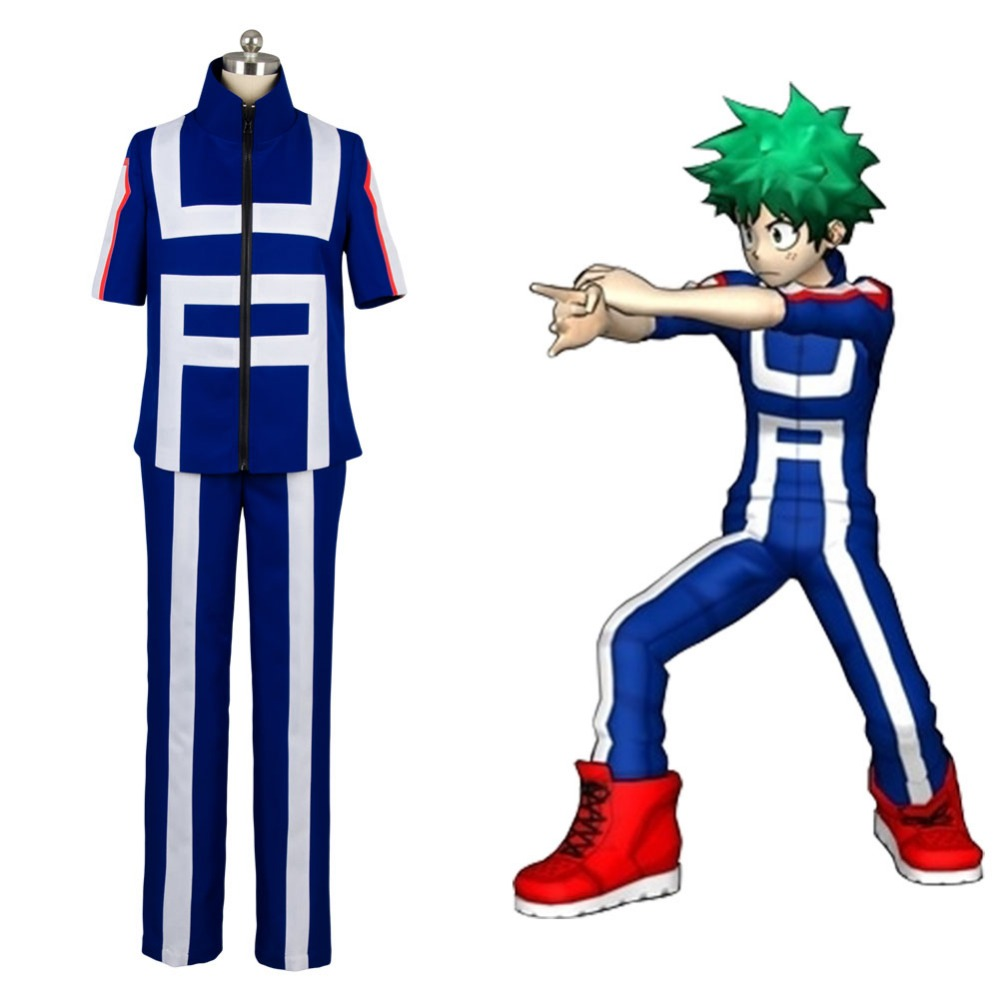 Boku no Hero Academia My Hero Academia Izuku Midoriya Training Suit Cosplay Costume Full Set