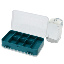 13 Grids Plastic Tools Storage Box Jewelry Beads Screws Storage Case Double-Side Small Electronic Tools Holder Green Box