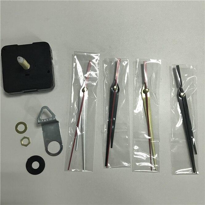 DHL 100sets Wall Clock DIY Repair Tool Metal Hands 28mm Quartz Clock Movement Mechanism Parts Kit Replacement Essential Tools
